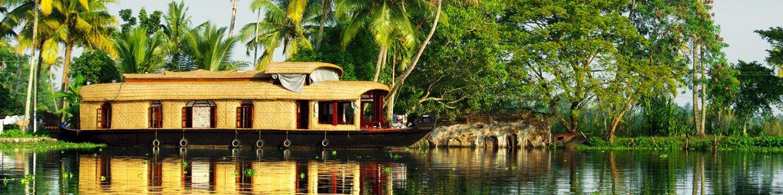 Backwaters Allepey Inde du Sud