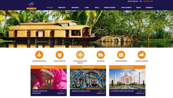 Nouveau Site inde pour CFA Voyages
