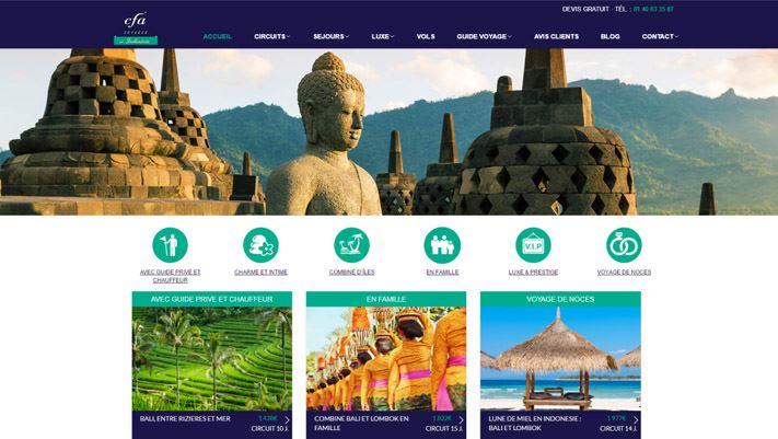 Relooking site indonésie