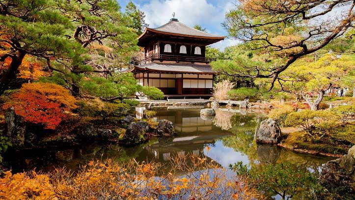 Temple Ginkakuji, le Palais d'argent, à Kyoto