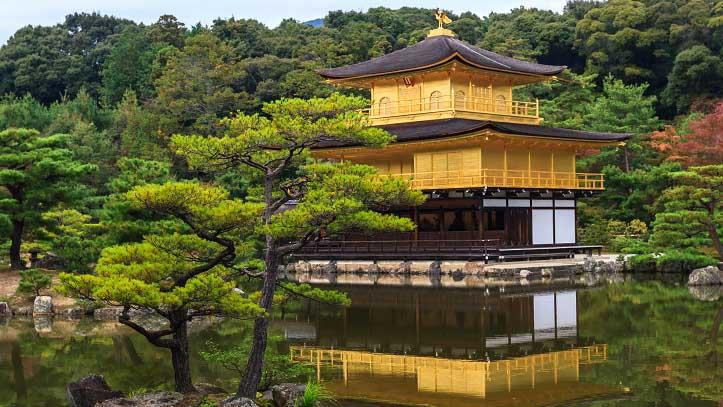 Temple Kinkakuji, le Palais d'or, à Kyoto