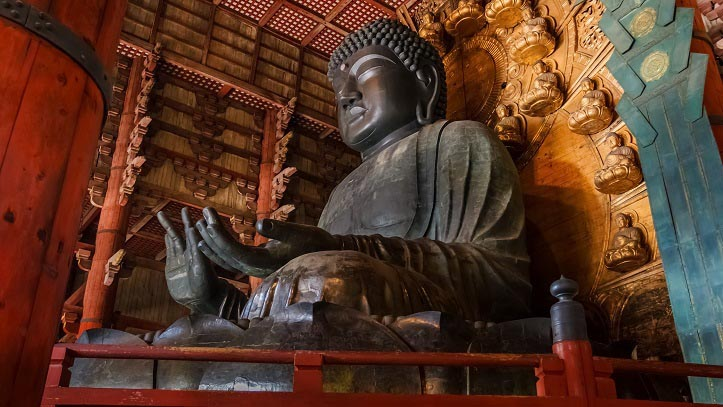 Grand Bouddha du temple Todaiji à Nara