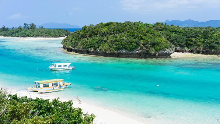 Plage de l'île Ishigaki de l'archipel d'Okinawa