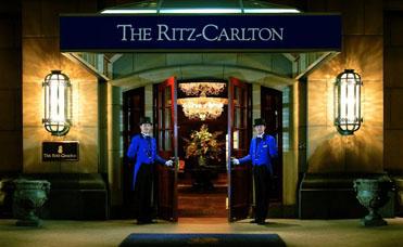 Entrée du Ritz Carlton à Osaka