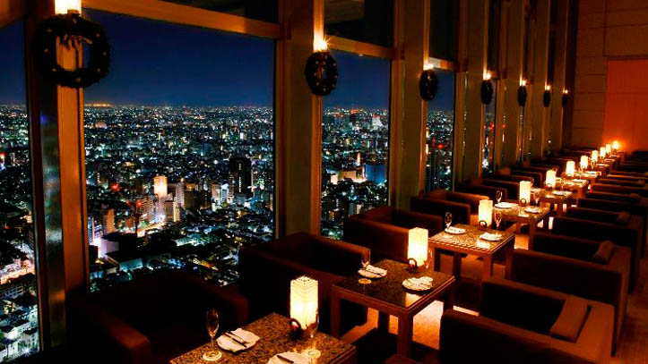 Restaurant Peak Lounge du Park Hyatt 5* à Tokyo
