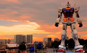 Statue Gundam d'Odaiba à Tokyo