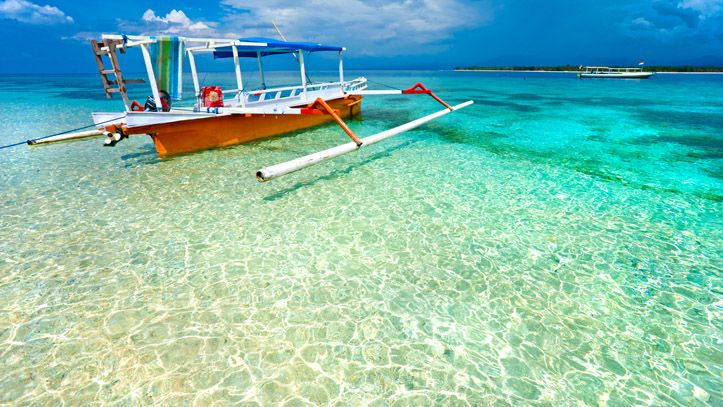 Indonésie iles gili plage