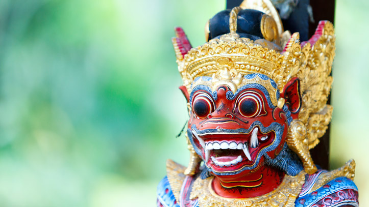 Indonésie statue traditionnelle
