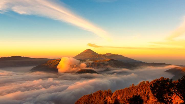 Mont Bromo coucher de soleil