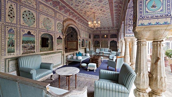 Palace de Samode en Inde