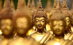 Bouddhas dorés, Thailande