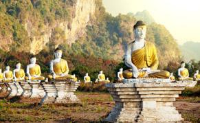 Bouddhas assis, Thailande