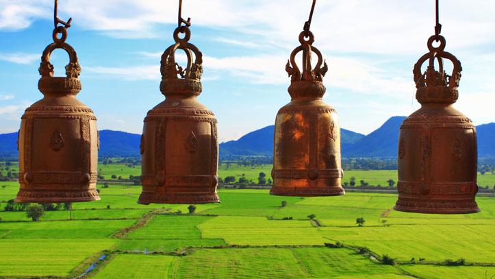 cloches thailande plaine
