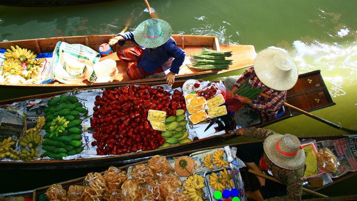 thailande marché flottant
